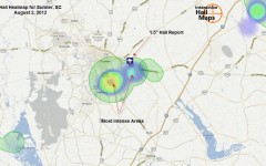 Hail Map for Sumter, SC August 2, 2012