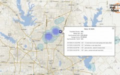 Hail Map for Plano, TX August 17, 2012