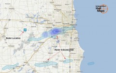 Hail Map for Milwaukee, WI September 17, 2012