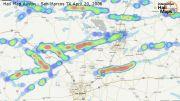 Hail Map Austin - San Marcos Texas May 20 2006