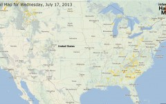 Hail Map for Wednesday, July 17,  2013