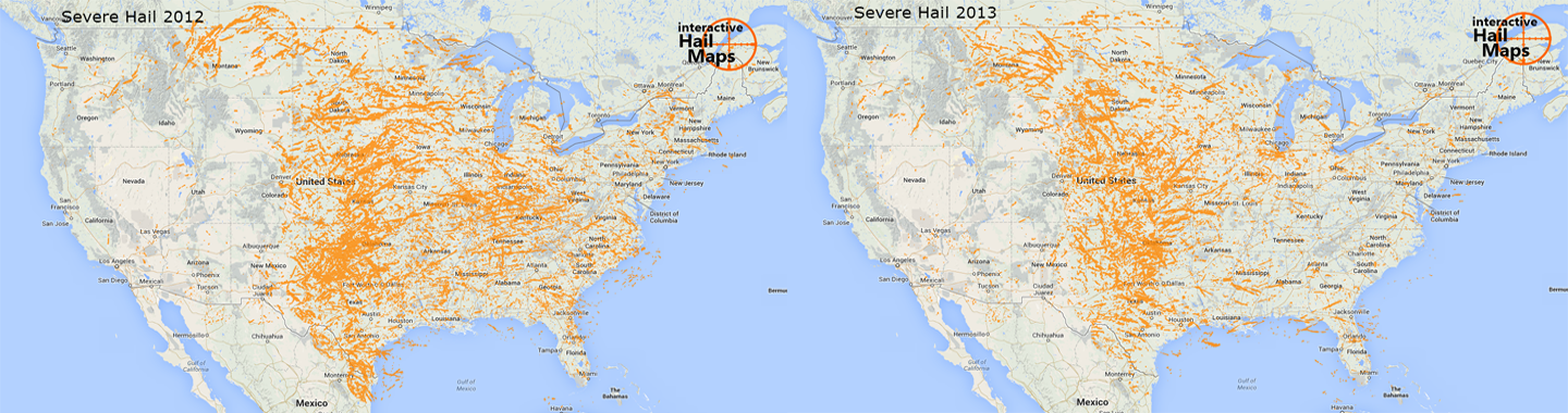 Severe Hail 2012 VS. 2013 Featured
