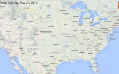 Hail Map for Tuesday, May 27, 2014