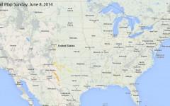 Hail Map for Sunday, June 8, 2014