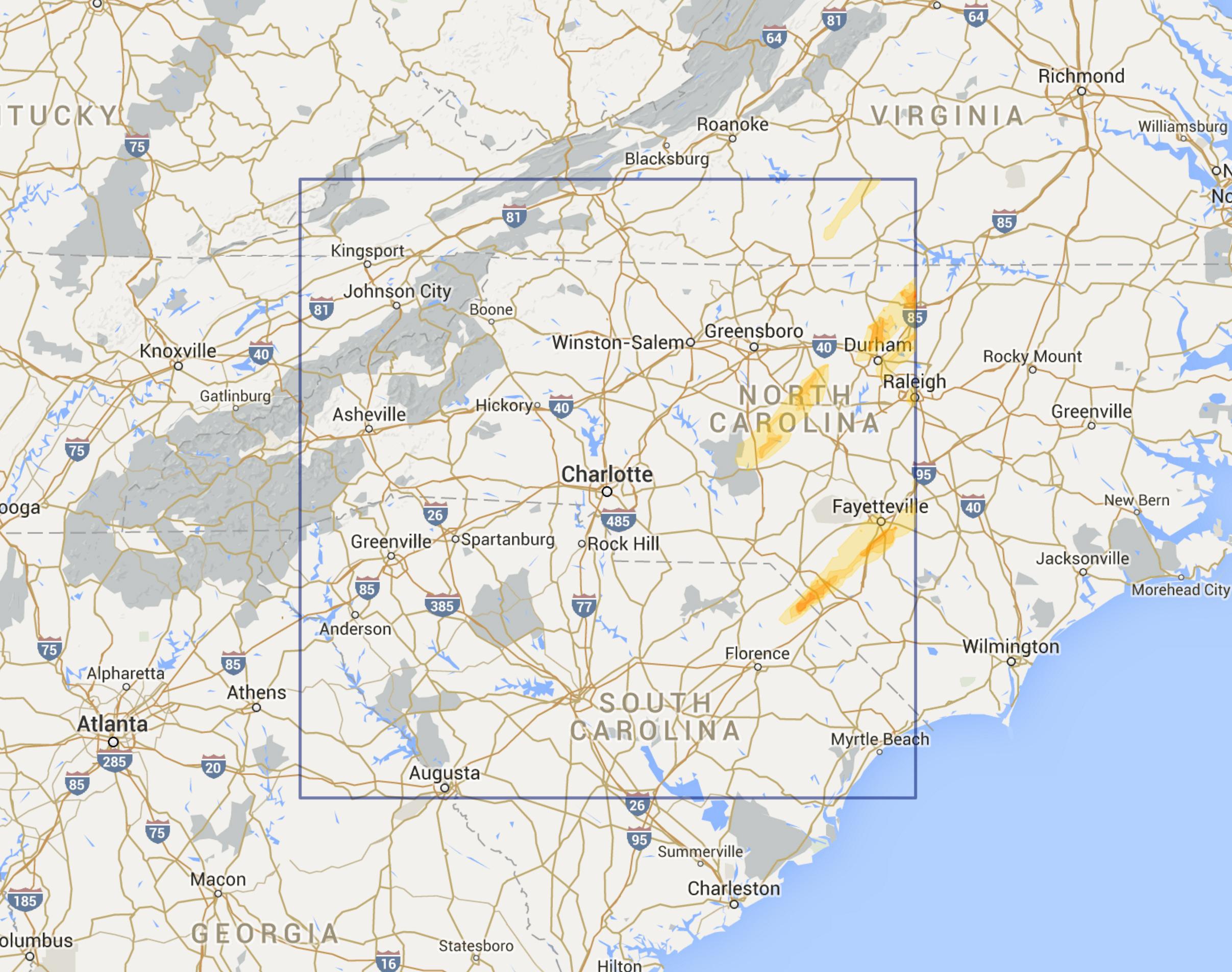 Charlotte NC Region