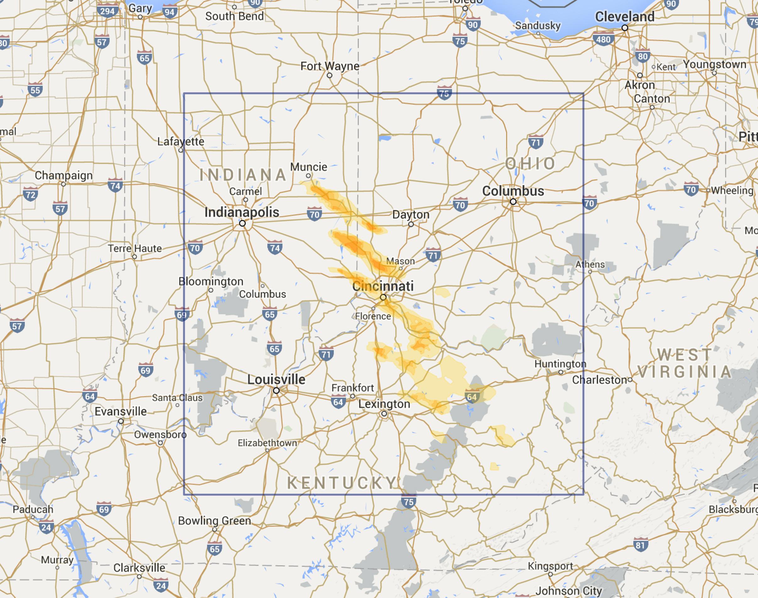 Cincinnati OH Region