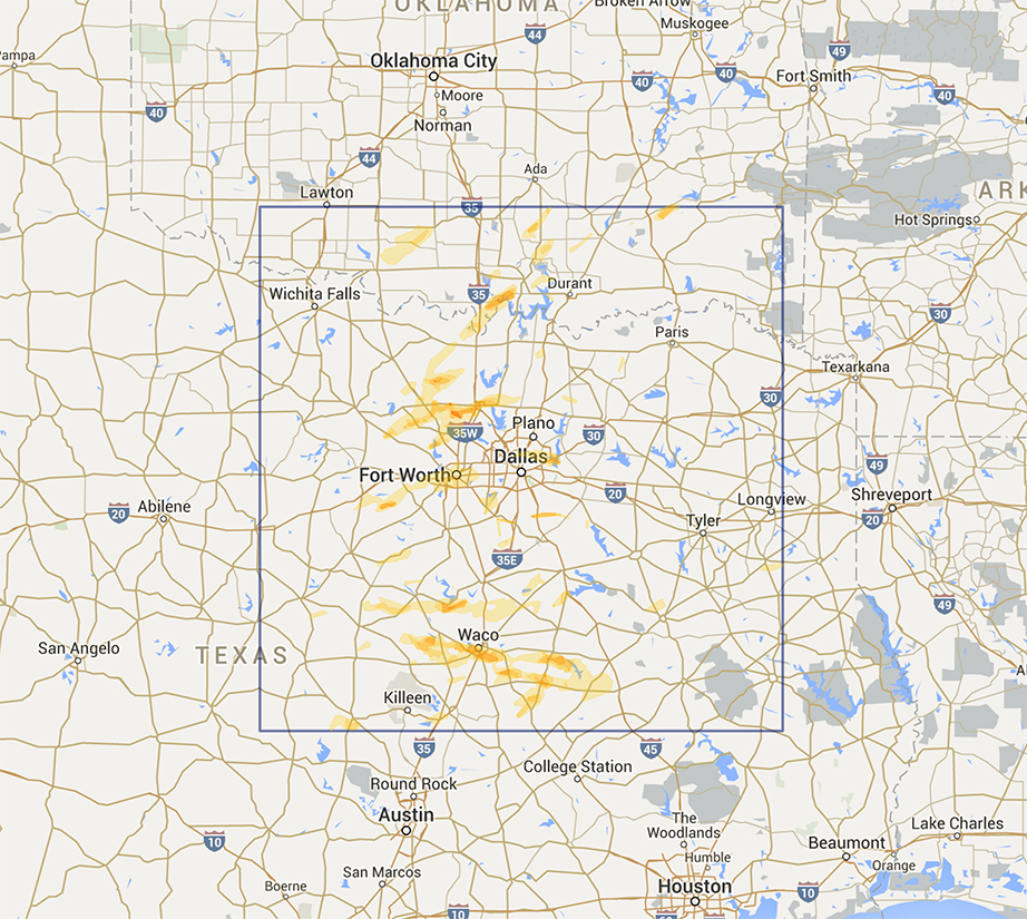 Interactive Hail Maps - Available Regions on 60 miles radius map, 2 miles radius map, 15 miles radius map, 250 miles radius map, 10 miles radius map,